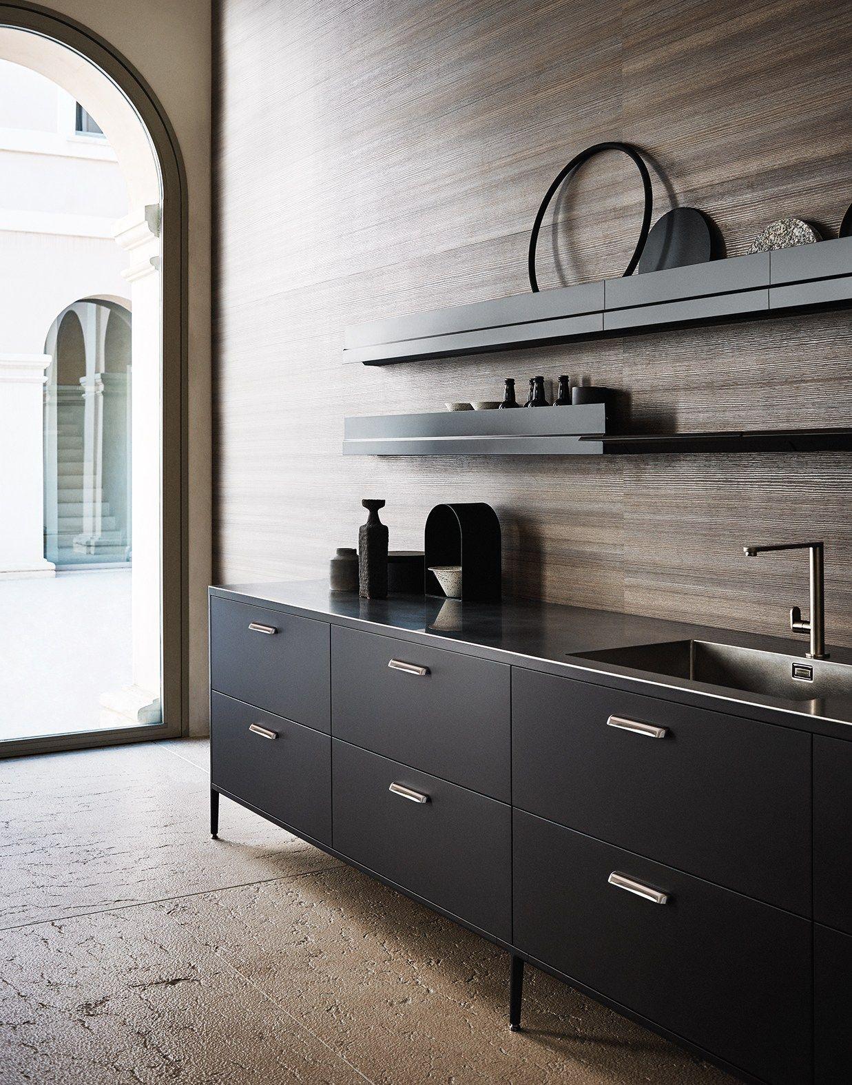 Modular kitchen with island UNIT - COMPOSITION 3 by Cesar Arredamenti design García Cumini Associati