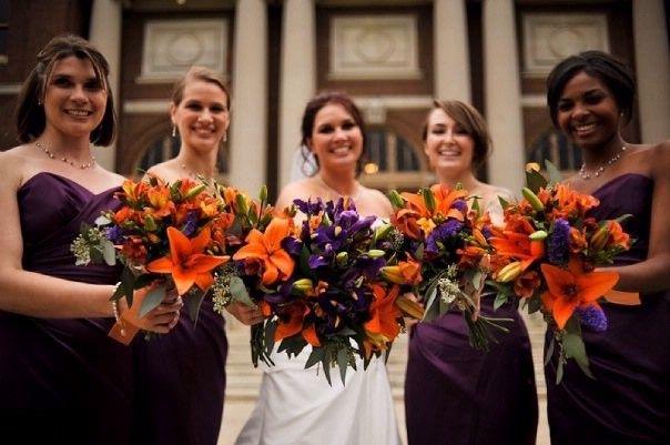 Need Help With Colors Purple Wedding Decorations Orange Purple