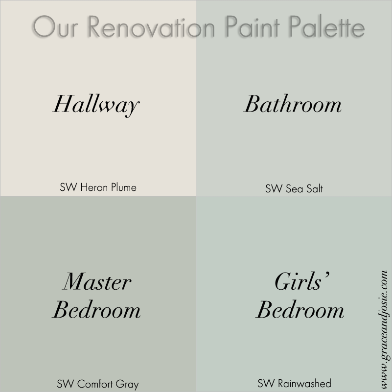 Our Renovation Story The Paint Palette Sherwinwilliams