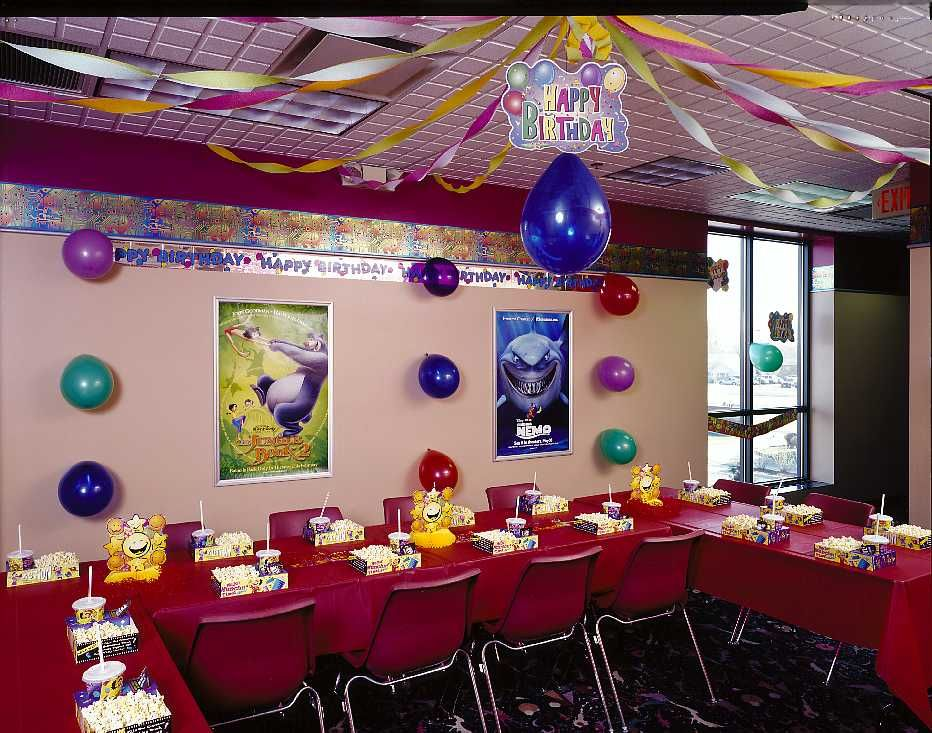 Elk Grove Theatre upstairs Party Room Spring birthday