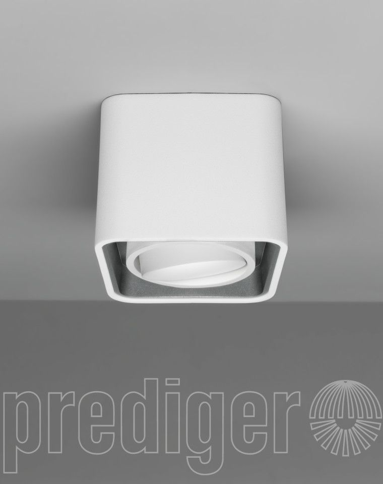 Mini light case led deckenleuchte au en wei innen grau for Led deckenleuchten innen