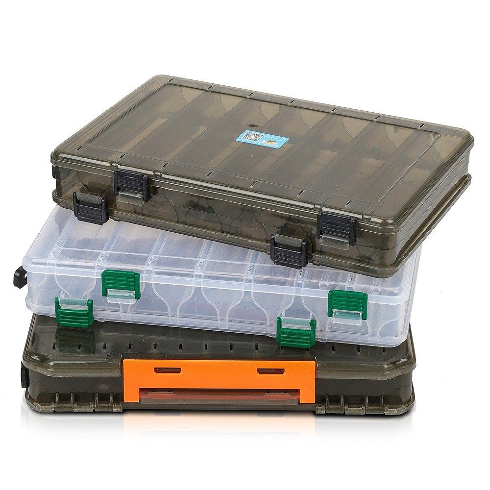 Tackle Storage Box Fishing Lure Bait Hook Double-sided Visible Plastic Clear Box