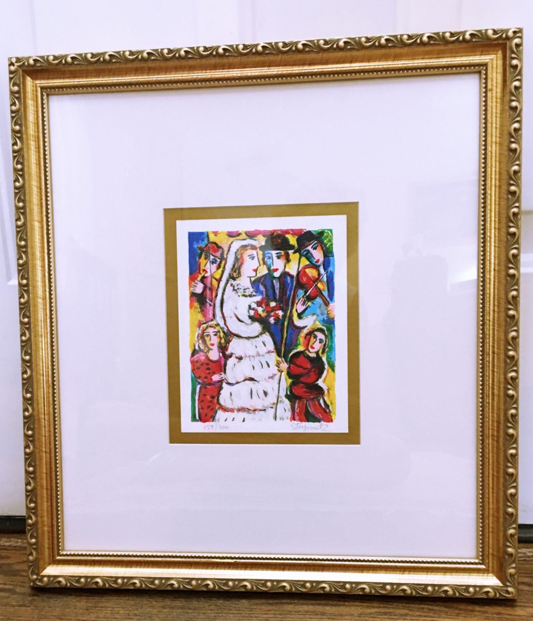 """Zamy Steynovitz Serigraph, """"The Wedding"""""""
