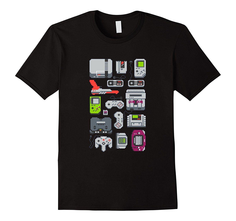 Amazon.com: 8 Bit Vintage Consoles Gamer T Shirt: Clothing