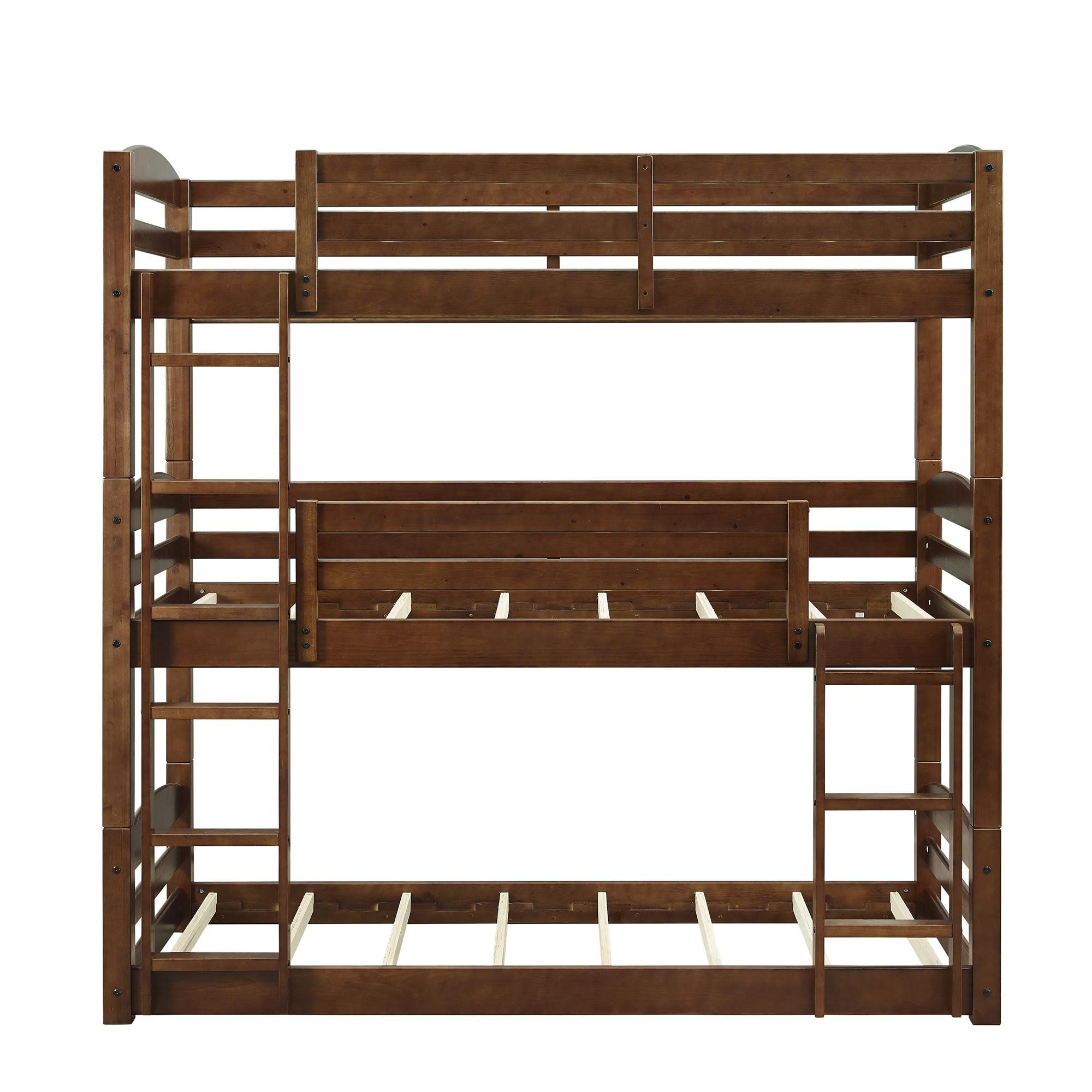 Better homes and gardens tristan wooden triple floor bunk