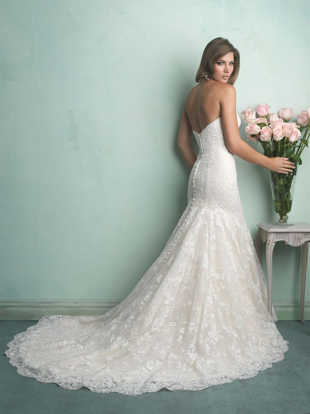 allure bridal 9169 Featuring a soft fit and flare silhouette, this ...