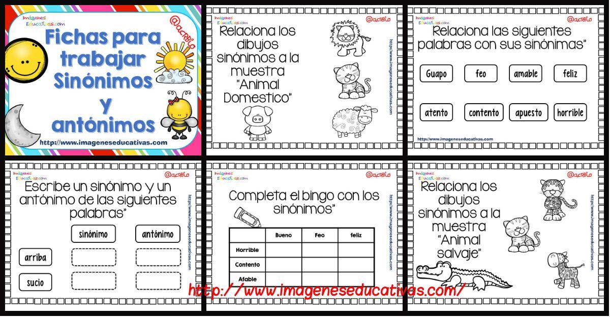 Cuaderno De Trabajo Sinonimo Vs Antonimos Sinonimos Y Antonimos Antonimos Imagenes Educativas