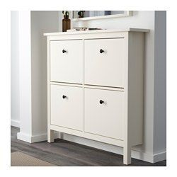 Hemnes White Shoe Cabinet With 4 Compartments 107x101 Cm Ikea Ikea Hemnes Shoe Cabinet Hemnes Shoe Cabinet Ikea Shoe Cabinet