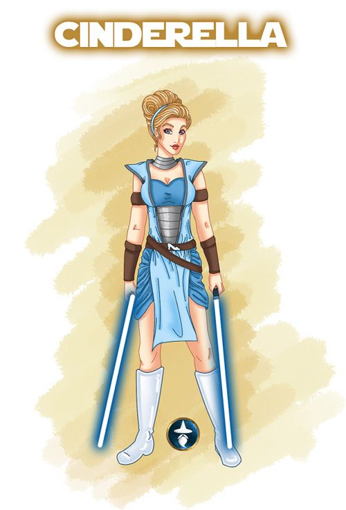 Disney Ladies as Jedi--go to link to see more!