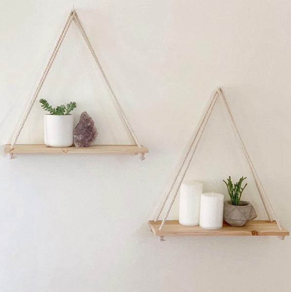 Plantshelfie Hanging Wall Shelves To Showcase Succulents And Small Planters In 2020 Diy Hanging Shelves Rope Shelves Hanging Shelves