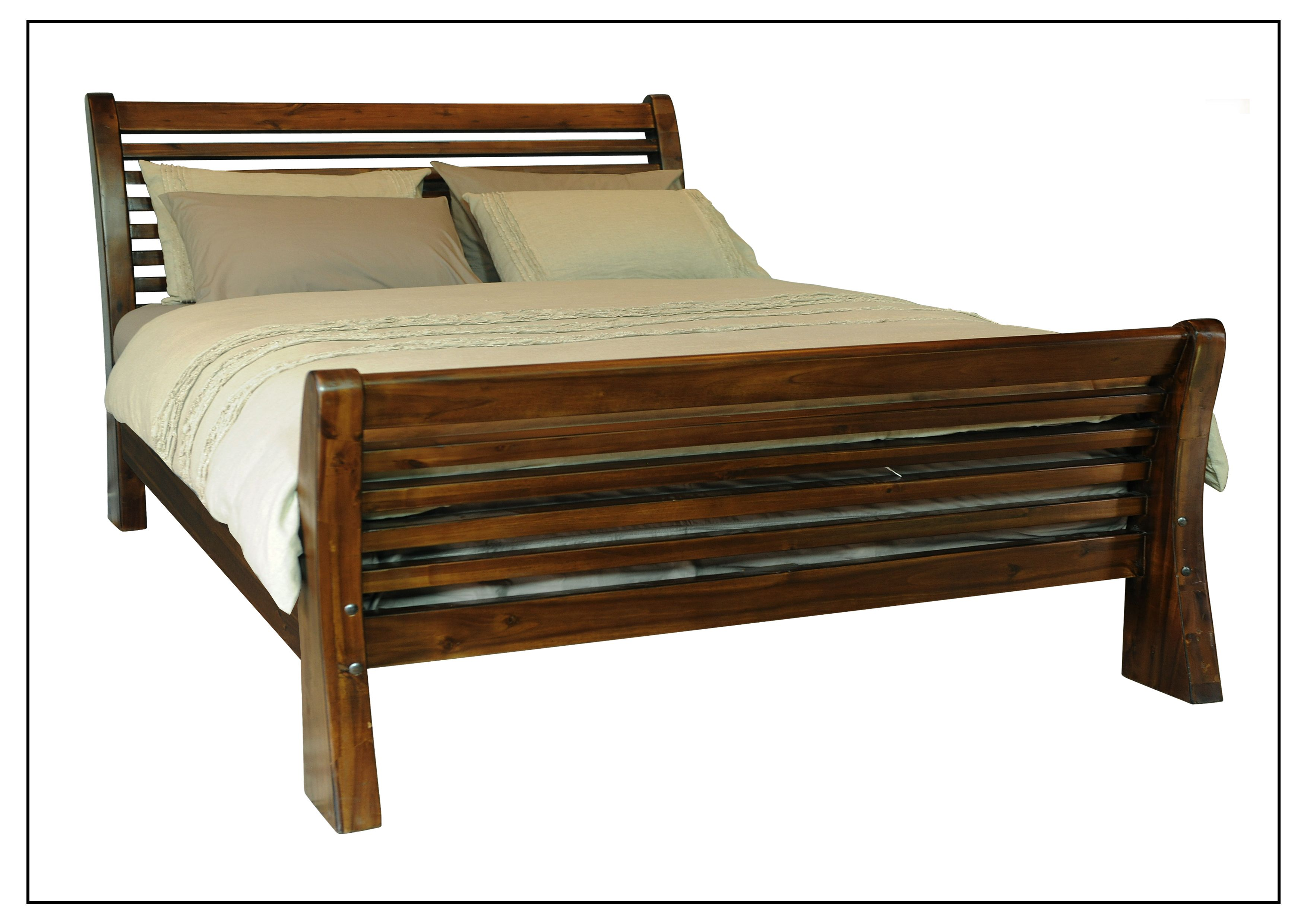 TIBKB016 King Bed Head Height 1250mm, Foot Height 570mm