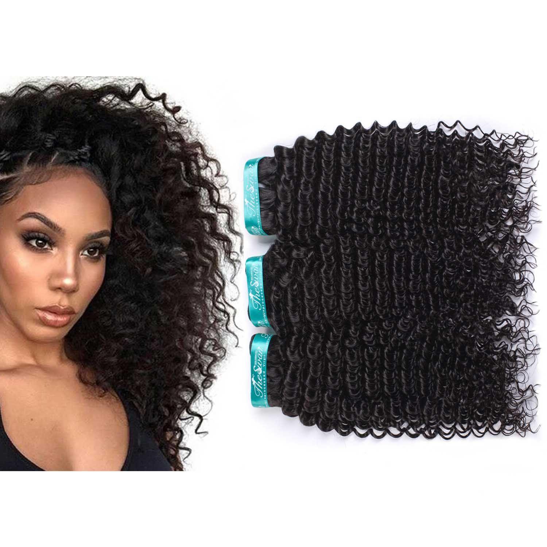 Swan Kinky Curly Grade 7a Brazilian Hair Mixed Length 3 Bundles
