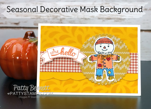 Stampin Up Seasonal Decorative Masks Prepossessing Seasonal Decorative Mask Background Card Featuring Stampin' Up Decorating Design