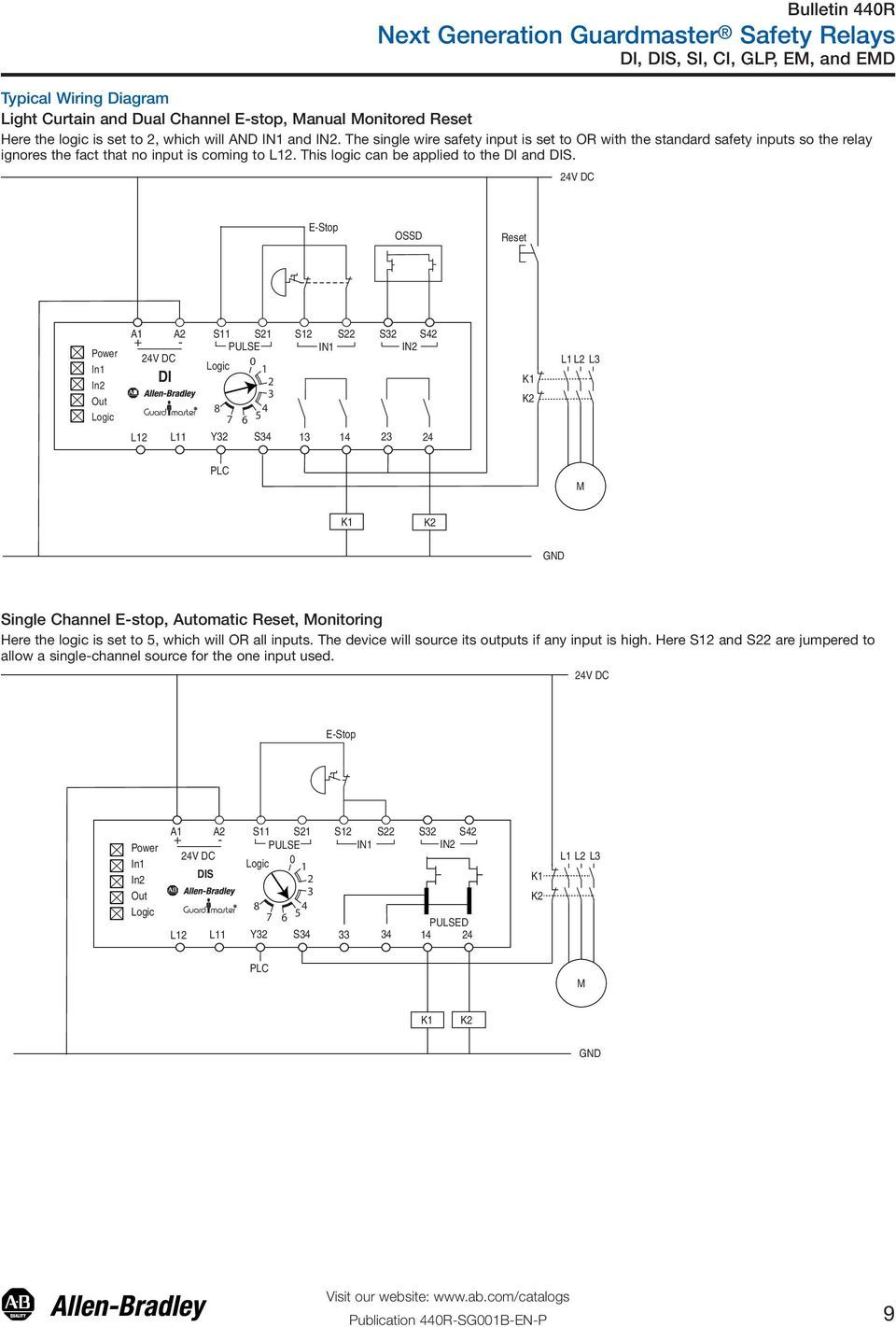 60 Lovely Allen Bradley Guardmaster Safety Relay Wiring Diagram In 2020 Relay Wire Electromagnet