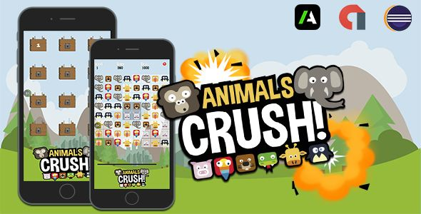 Animals Crush & Eclipse Project + Admob Interstitial & Banner - https://codeholder.net/item/mobile/animals-crush-eclipse-project-admob-interstitial-banner