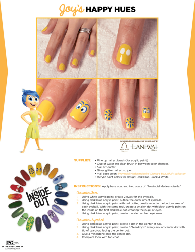 eae9f0abbca3 Inside Out Nail Art Designs (5 Designs for Joy