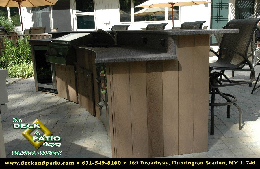 Another Trex Outdoor Kitchen Imagining My Portable Propane Grill In Its Own Cabinet With Sink Alongside And Storage Below