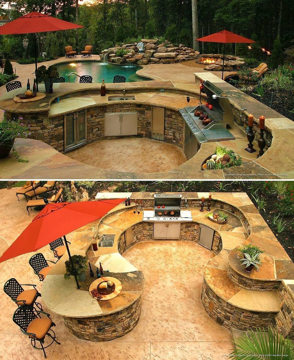 25 Incredible Outdoor Kitchen Ideas Patios Traseros Habitaciones Al Aire Libre Diseno De Exterior De Cocina