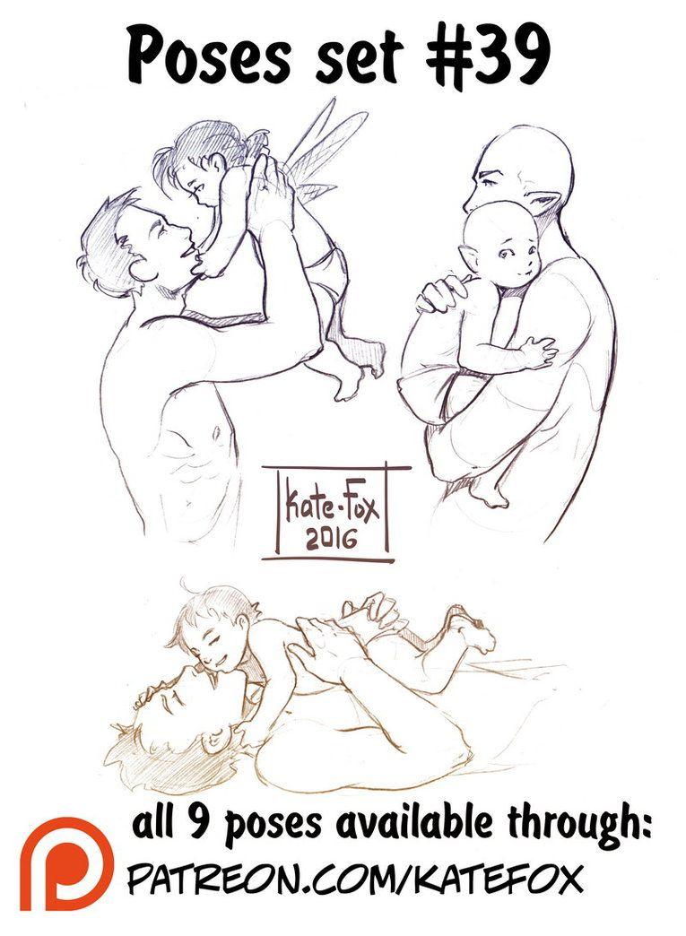 bebé y padre | Poses | Pinterest | Padres, Bebé y Dibujo