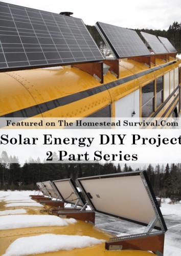 Solar Energy DIY Project 2 Part Series | The Homestead Survival Zonnepanelen voor stroom in de bus