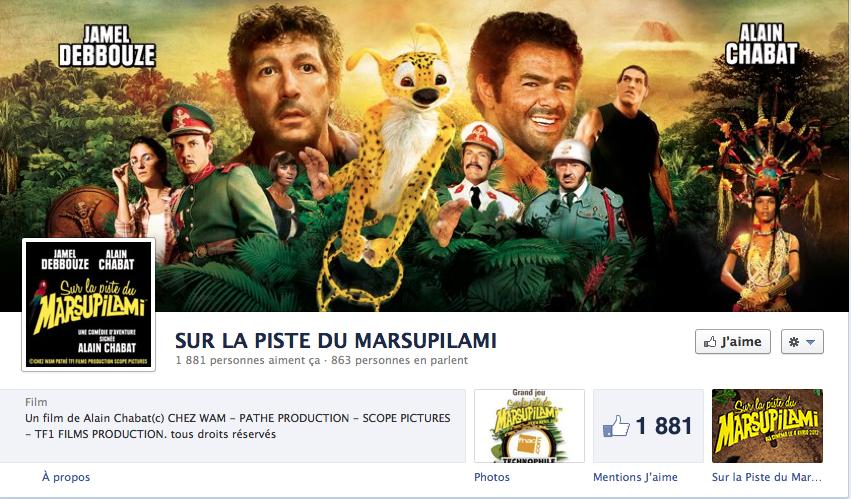 Concours Facebook «Sur la piste du Marsupilami » : Gagnez une projection privée avec Alain Chabat !