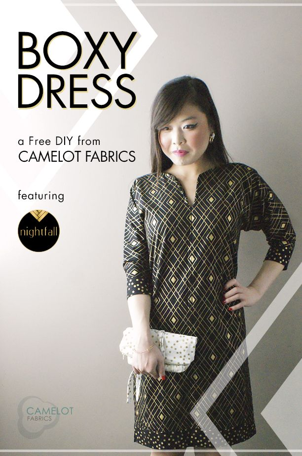 How To\'s Day: Boxy Dress Tutorial   Camelot Fabrics. Freshly Made ...