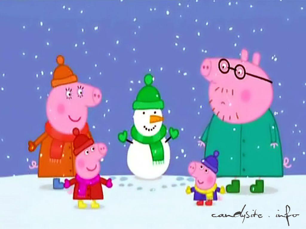 peppa pig | Peppa Pig Snow 1024 x 768 2 300x225 Peppa Pig