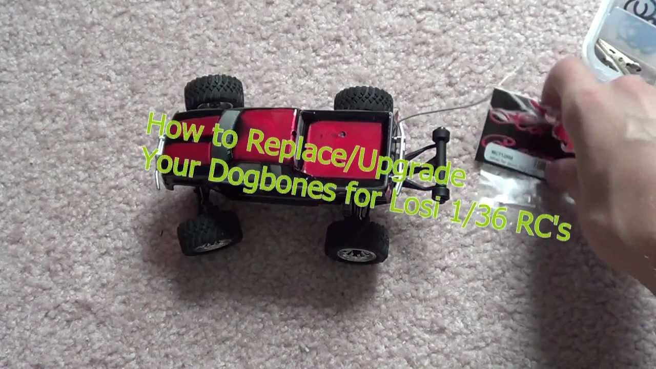 How To Replace Upgrade Dogbones For Losi 1 36 Rcs Rc Cars