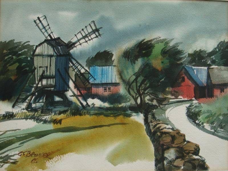 Gerald brommer california style original watercolor