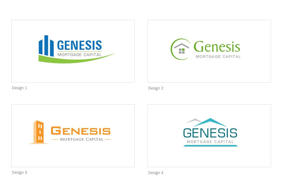 #Logo Design concepts for a Mortgage Company in #Ajax #Pickering. Looking to re-brand? Logo Development starts at $229! Part of www.danipa.com sample Graphic Design Portfolio.