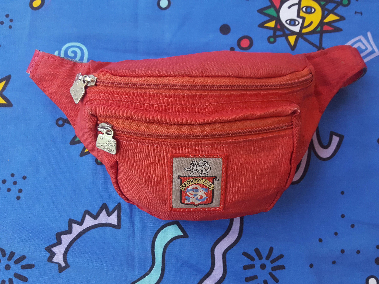 c958b51a26 Vintage 80s Red Bum Bag