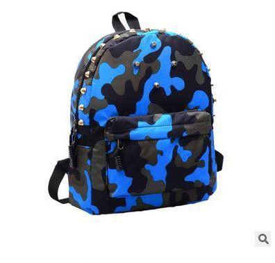 Kids backpacks kindergarten school bag Fashion Rivets Camouflage children  school bags Travel Backpack For Toddler Boy And Girl 613c105c872f2