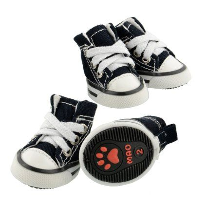 c0a923f16a4a6 Pet Dog Shoes Denim Sport Casual Anti-slip Rubber Boots Dark Blue ...