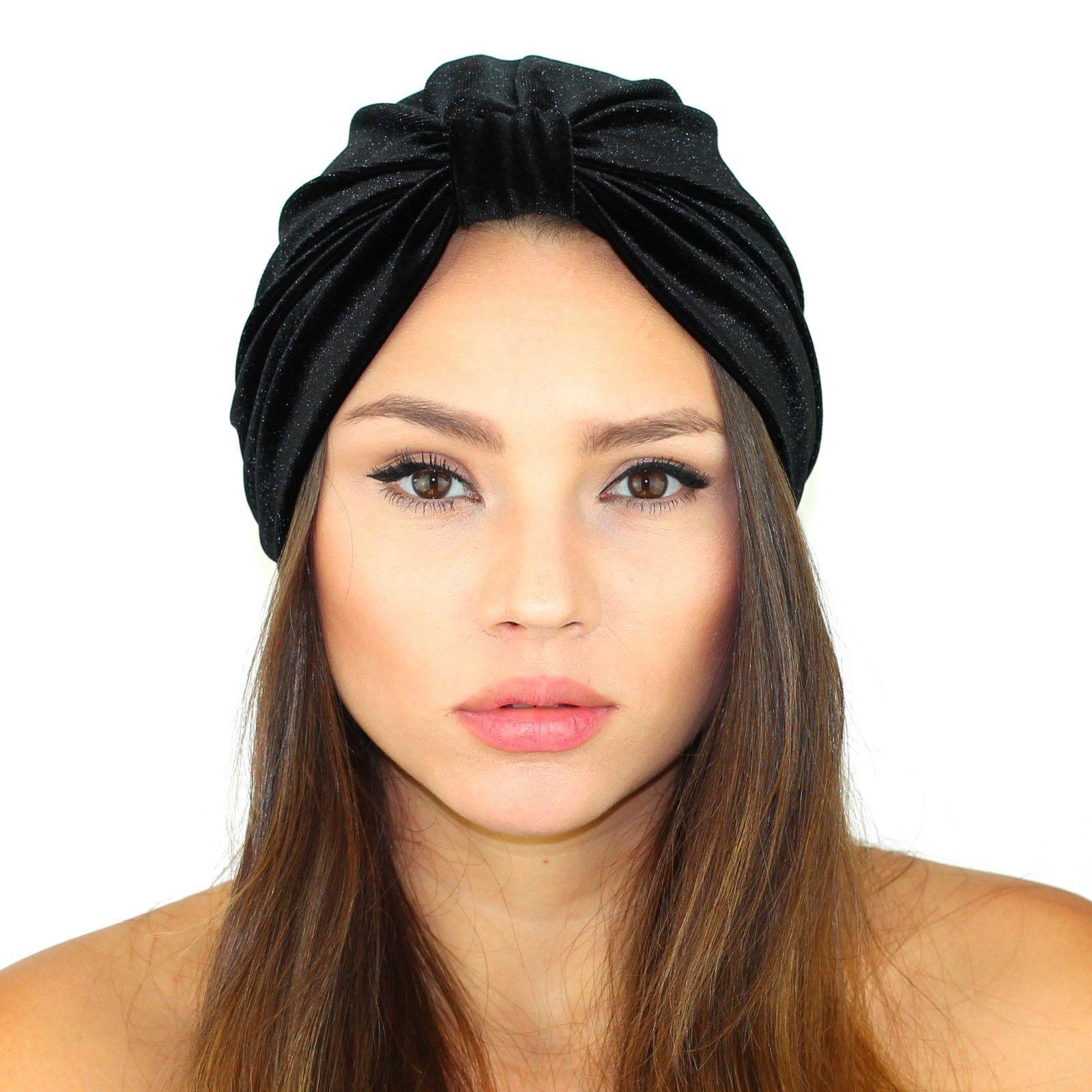 8f412dd8975 Details about Kristin Perry Velvet Turban Headband Knit Hat