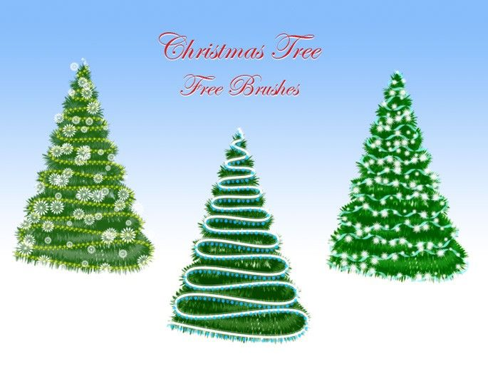 Christmas Tree Free Brushes Webdesigner Lab Tree Photoshop Tree Free Free Christmas