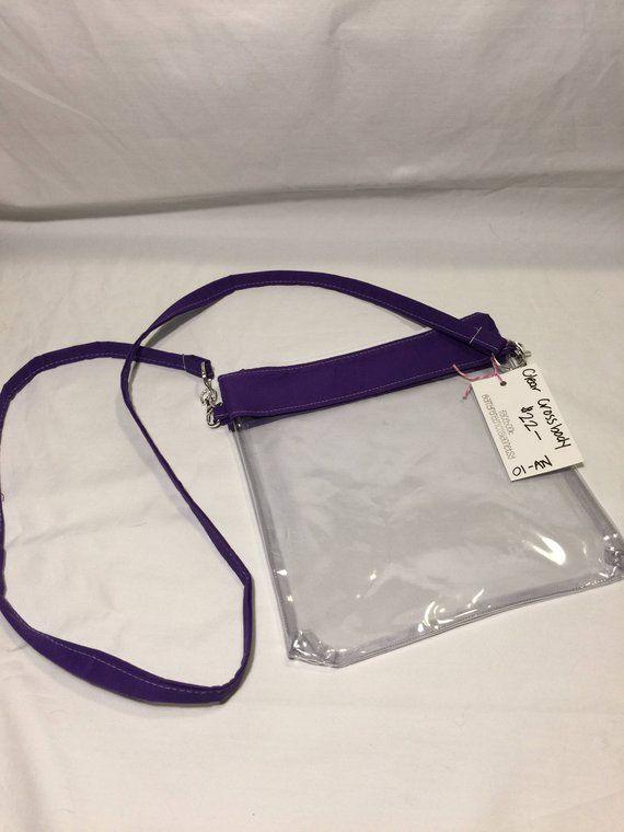 ebed65c655cf Crossbody Bag Clear Purse Stadium Bag Purple Clear Handbag Game Bag  Monogrammed Tote Bag Clear Cross