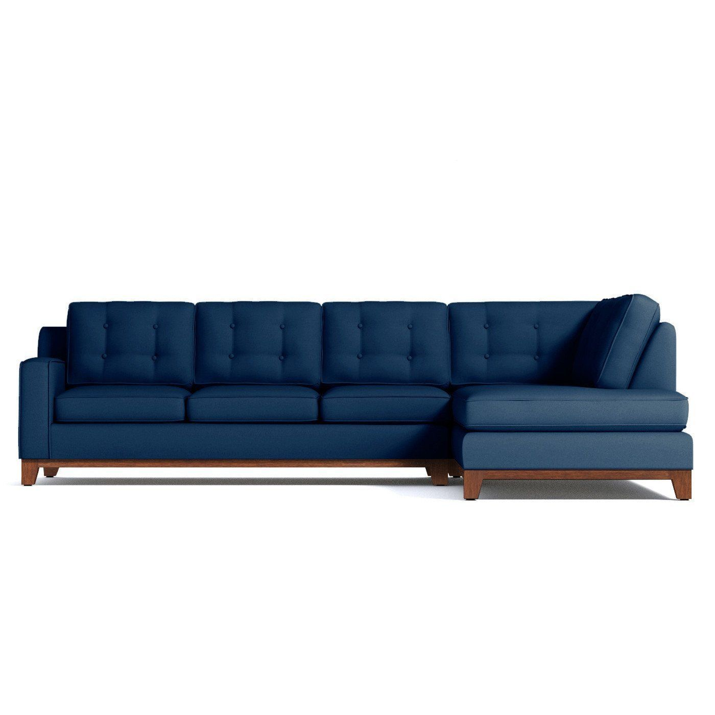 Bwood 2pc Sleeper Sectional Raf In Blueberry Clearance