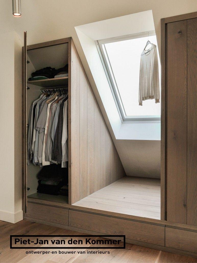 Loft bedroom wardrobe ideas  Luxe woonboerderij  PietJan van den Kommer  slaapkamer garderobe
