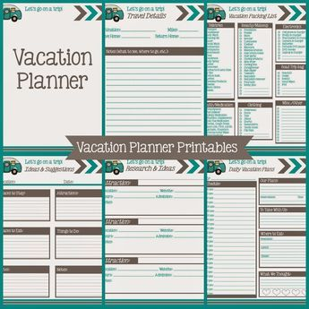 Vacation Planning Printables Free Vacation Planner Vacation Planning Printables Road Trip Planner