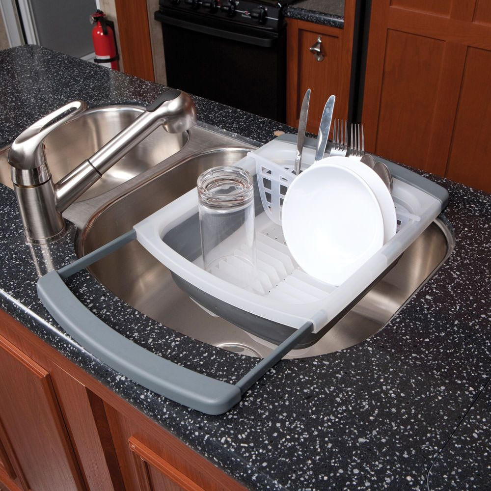 Rv Kitchen Supplies: Prepworks Collapsible Over-the-Sink Dish Drainer