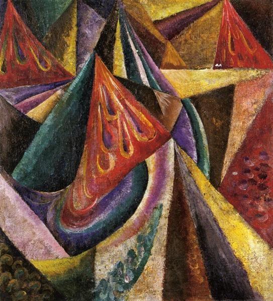 Abstract Composition, Artist: Oleksandr Bogomazov, Date