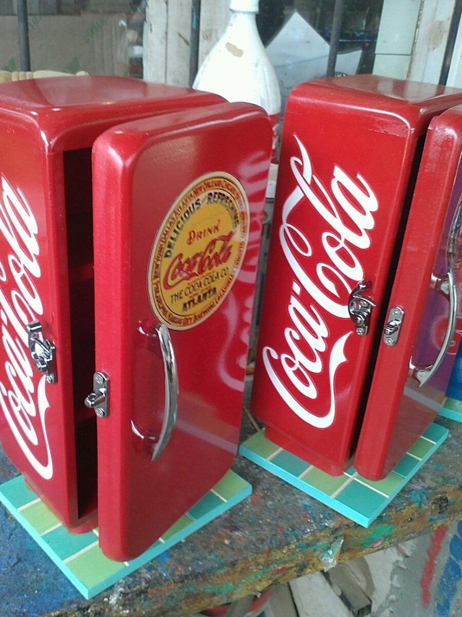 Nevera Coca Cola Y Pepsi Coleccion Modelo Antigua Vintage Bs F