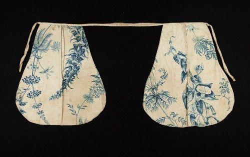 Pocket, printed cotton linen, 18th c, American, MFA Boston, 48.1218