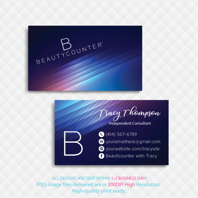 Personalized Beautycounter Business Card Beautycounter Business Card Glitter Business Card Printable Card Bc23 Glitter Business Cards Printable Business Cards Business Cards Beauty