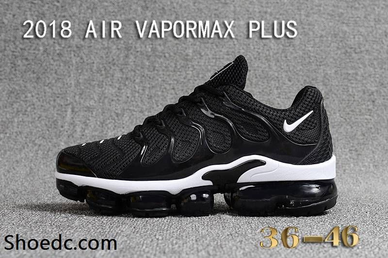 f8a9b059a41 Nike Air Max Tn 2018 Vapormax Plus Black White Women Men