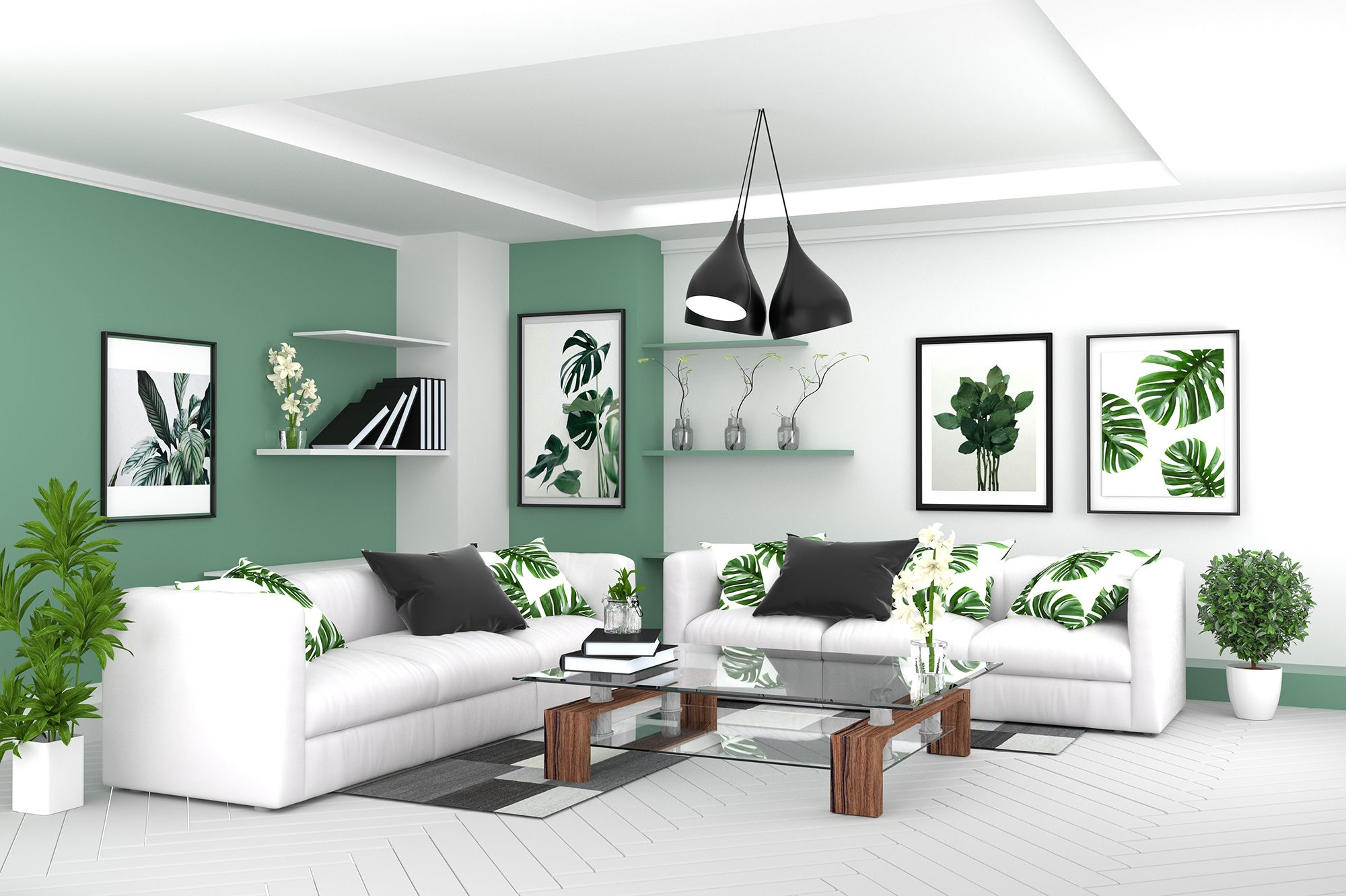 Living Room Interior Room Modern Tropical Style With Composition Minima Tropical Interior Design Living Rooms Tropical Interior Design Tropical Living Room