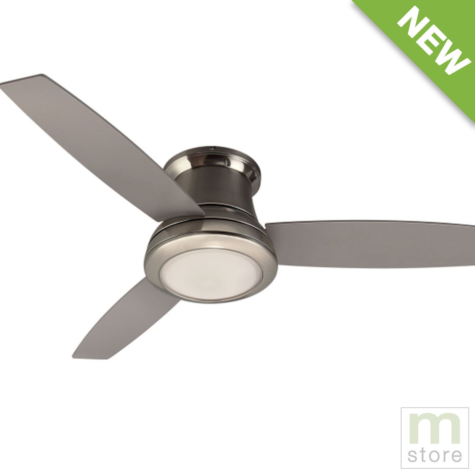 Details About 52 Ceiling Fan With Light Kit And Remote Brushed