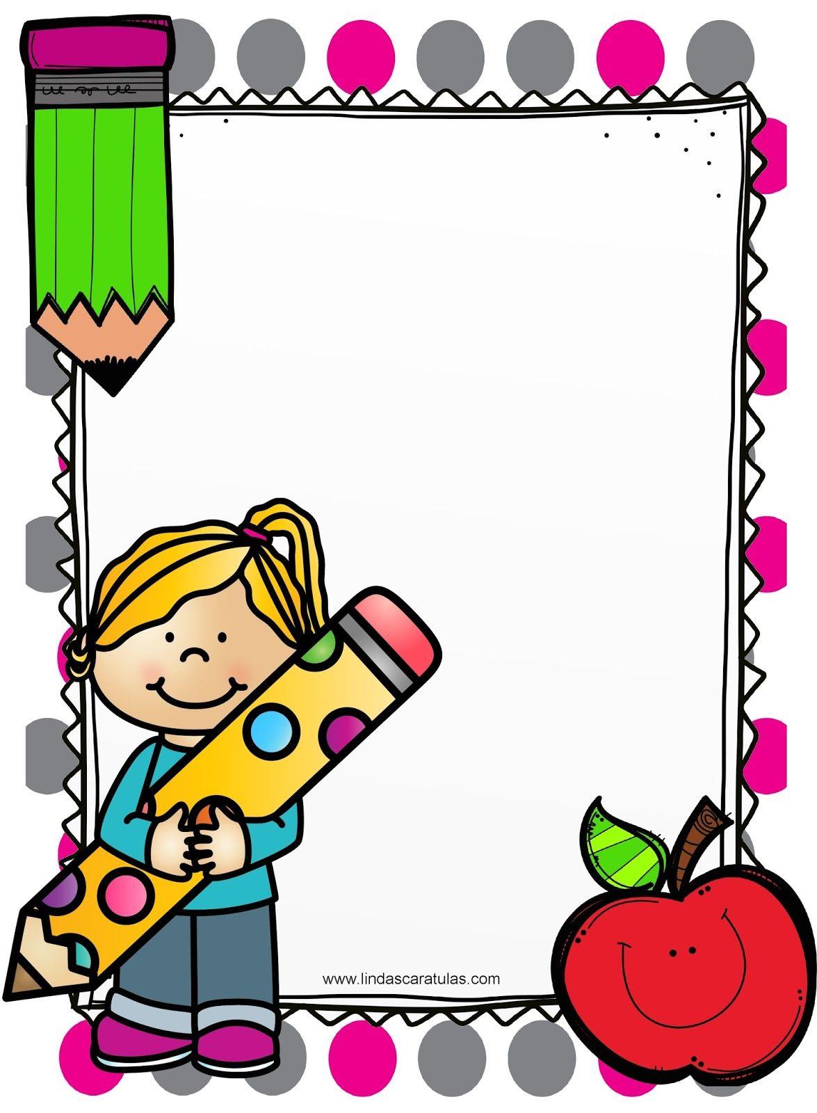 Caratulas Portadas Bordes Imagenes Infantiles Disenos De Tripticos Dipticos Caratula Para Ninos Caratulas Para Carpetas Caratulas Para Cuadernos Escolares