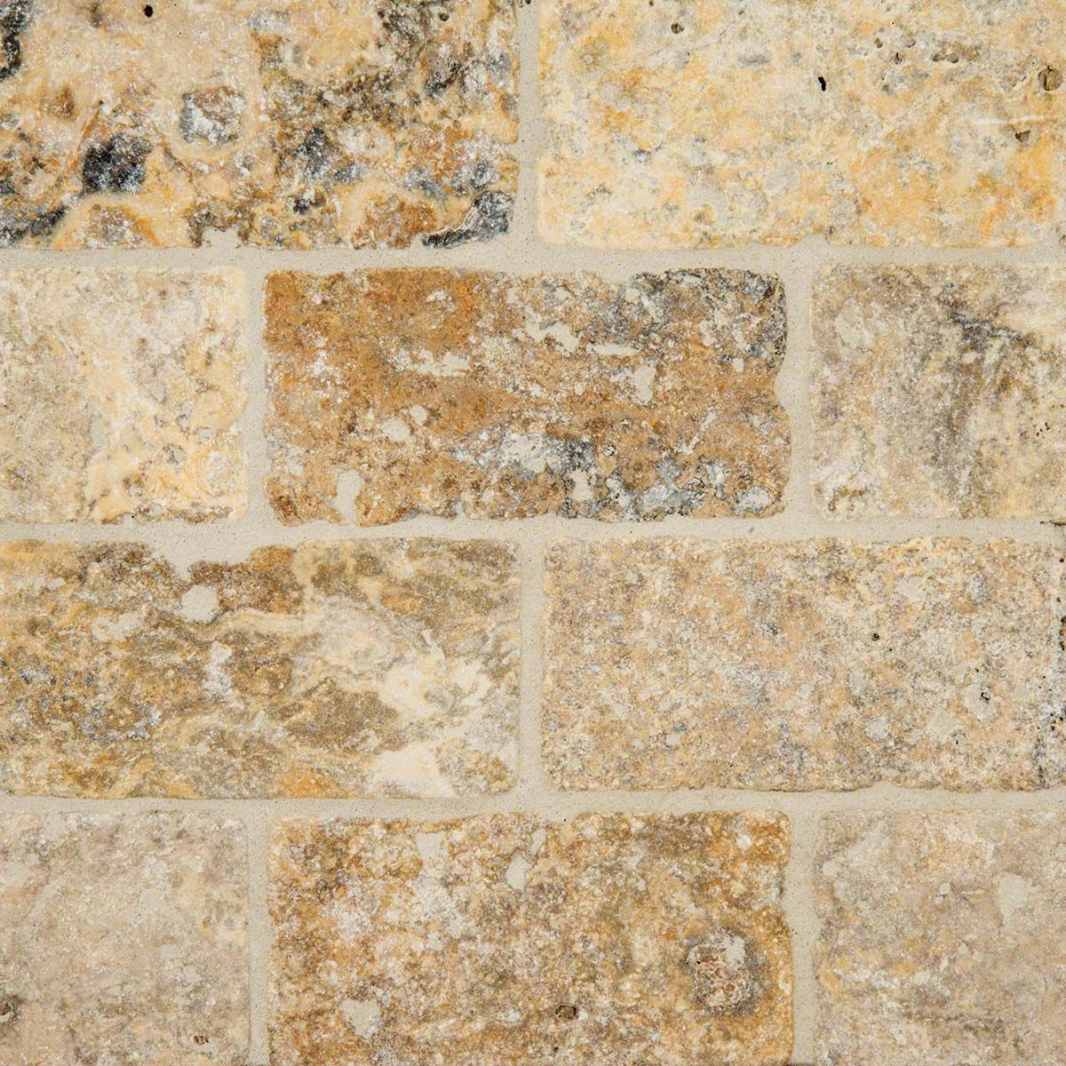 Tuscany scabas 3x6 tumbled travertine backsplash kitchen the texture and character of this natural travertine backsplash tile shine through with the subtly honed dailygadgetfo Image collections
