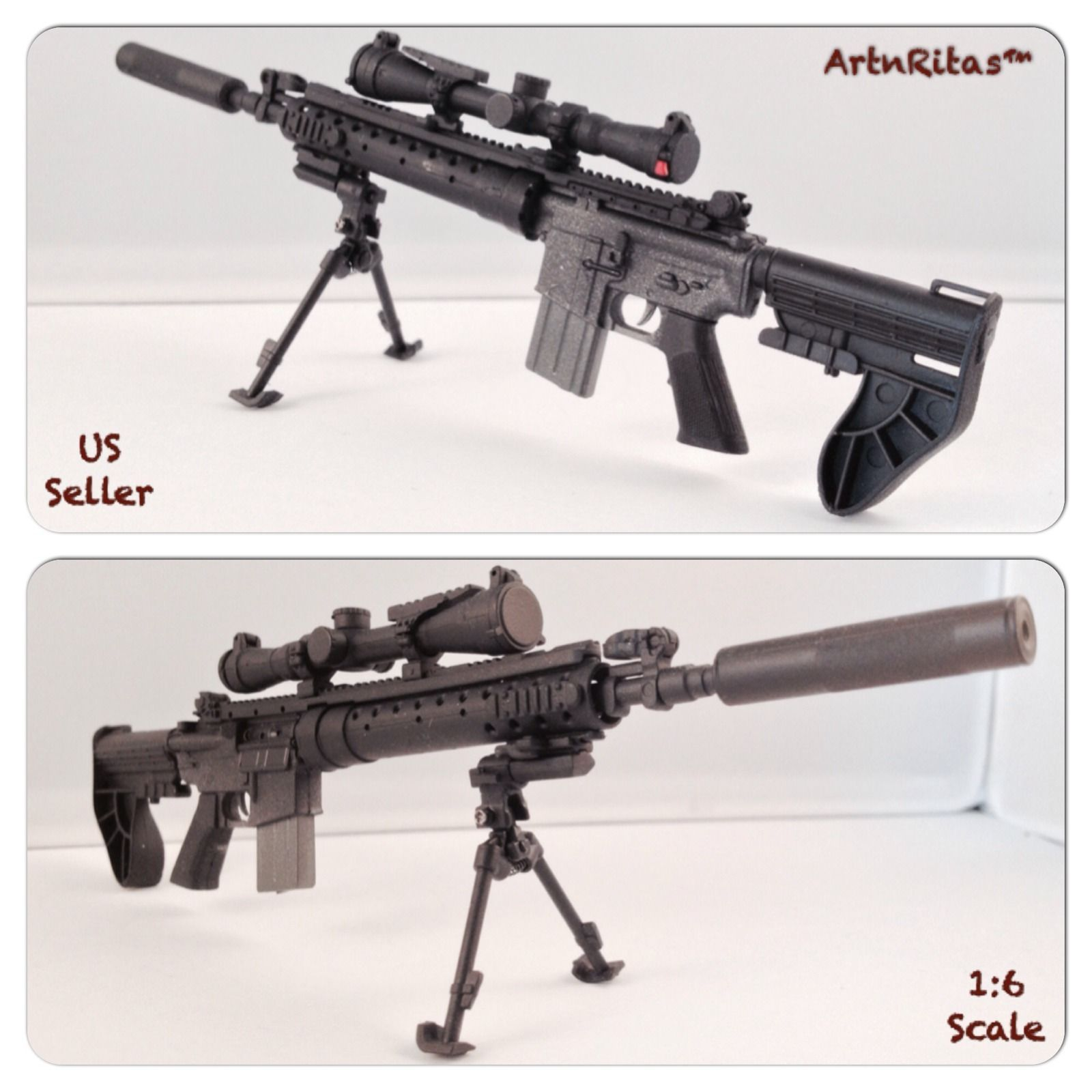 Toy box metal decor wall art shop play children store a180 ebay - 1 6 Scale Hot M4 Weapon Sniper Rifle With Scope For 12 Action Figure Toys